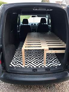 Vw Caddy With Sliding Slat Bed Bench So Chuffed With It