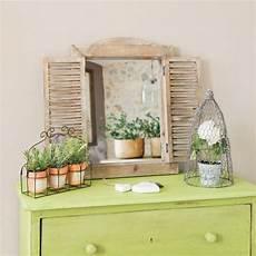 miroir fenetre miroir fen 234 tre en bois h 52 cm chetre maisons du monde