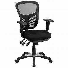 Office Chairs Bc by Flash Furniture Mid Back Black Mesh Swivel Task Chair With