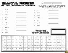 factoring polynomials quot gridwords quot 6 sum or difference of two cubes