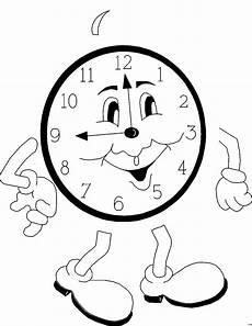 Uhr Malvorlagen Uhr Mit Gesicht Ausmalbild Malvorlage Comics