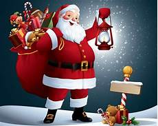 merry christmas with santa claus wallpapers wallpaper cave
