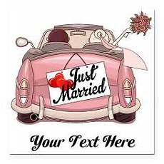 Malvorlagen Auto Just Married Just Married Square Car Magnet 3 Quot X 3 Quot Ccuadros Png