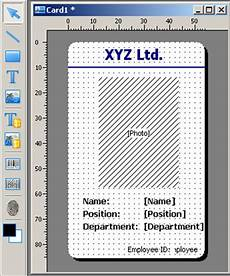 employee id card template free excel id card software