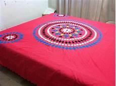 Made Applique Bed Sheet Color Guarantee Fabric
