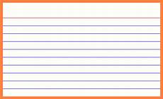 free printable 3x5 index card template baby