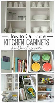 Kitchen Cabinet Organisation Ideas by How To Organize Kitchen Cabinets Clean And Scentsible