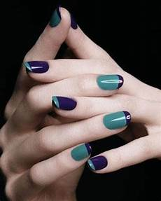 the two tones nail design is the newest nail trend