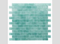 "Kellani Quartz 0.75"" x 1.63"" Glass Mosaic Tile in Aqua"
