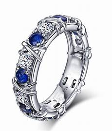 designer 1 carat alternating diamond and sapphire wedding