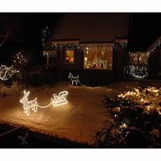 illuminazioni di natale per esterno renna luminosa natalizia con slitta da esterno o interno