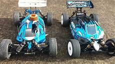 nitro vs electric rc cars drag race