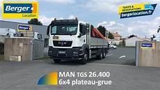 Berger Location Camion 6x4 Plateau Grue 26 Tonnes