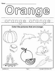 free color orange worksheet color worksheets for