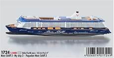 modellschiff quot mein schiff 3 quot siku 1724