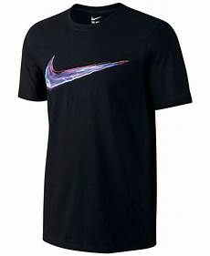 nike light up your logo t shirt in black for lyst