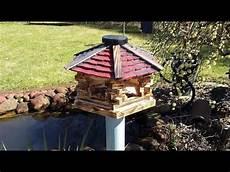 vogel futterhaus selber bauen deko garten balkon