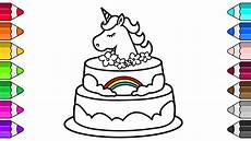 Malvorlagen Unicorn Cake Unicorn Cake Drawing And Coloring Pages For