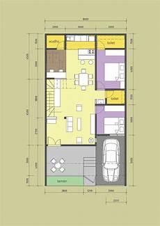 Denah Rumah Minimalis Type 36 90 Gambar Rumah Idaman