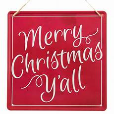 12 quot square tin sign merry christmas y all md0418 craftoutlet com