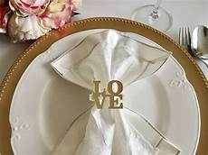 love napkin ring holders personalized wedding napkin rings valentines day table decor love sign