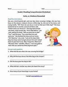 carlo or kindness rewarded second grade reading worksheets 2nd grade reading worksheets