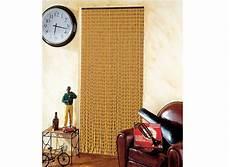 Rideau De Porte Moustiquaire En Perles De Bois 90 X 200 Cm