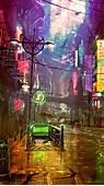 Wallpaper Futuristic Cyberpunk Future World 4K Art 20447