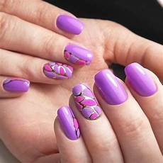 42 purple nail art designs spring trends fashion 2d