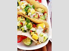 superfoods salmon taco with mango and avocado_image