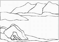 malvorlagen landschaften gratis und original meerlandschaft berge ausmalbild malvorlage landschaften