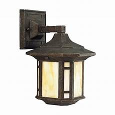 progress outdoor wall light with art glass in weathered bronze finish p5628 46 destination