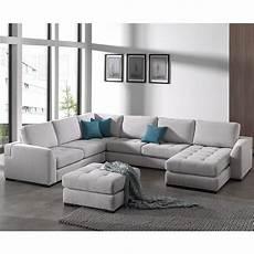 coussin pour canapé gris canap 233 d angle panoramique gris en tissu vigo 10 coloris