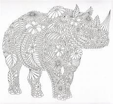 Ausmalbilder Tiere Erwachsene Coloring Page Doodle Tangles Malvorlagen Erwachsene