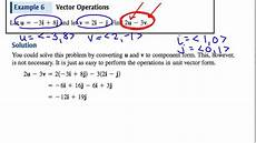 vector operations in linear combination form youtube