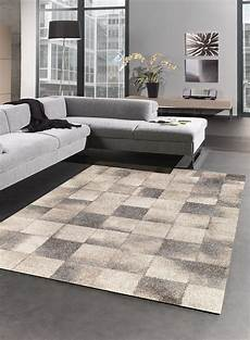 tapis geometrique pour salon 02 beige