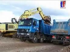 big blue mercedes actros mp2 dump truck kipper fa reinert germany 10 2004