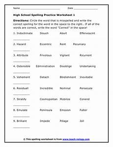 punctuation practice worksheets for high school 20794 printable high school worksheets high school spelling practice worksheet 1 spelling practice