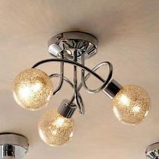 bedroom hallway landing glitter ball 3 light chrome ceiling fitting dunelm 163 25 lighting