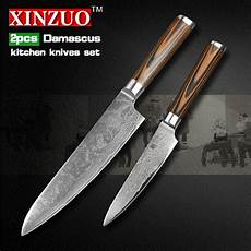 high quality kitchen knives xinzuo 2 pcs kitchen knives set damascus kitchen knife