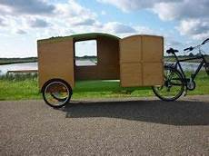 wohnanhänger selber bauen bicycle caravan bicycle cer bikeavan fietscaravan