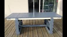 tuto cr 233 ation d une table de jardin table d exterieur