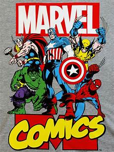 avengers heroes poster official marvel wolverine grey mens t shirt ebay