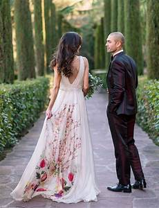 Non Traditional Floral Wedding Dresses