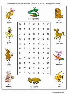 learning animals worksheets 13934 free printable puzzle worksheet on animals in animales handout homework for