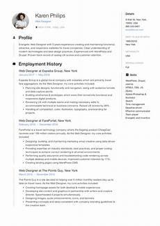 19 free web designer resume exles guide pdf 2020