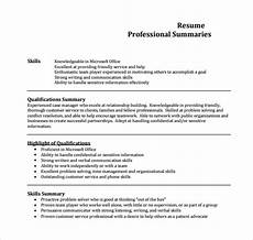 free 8 sle professional summary templates in pdf