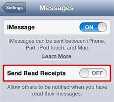 disable imessage read receipts iphone