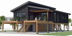 modern stilt house plans house design house plan ch539 3 house plans coastal