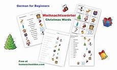 german vocab worksheets 19738 german for beginners weihnachtsw 246 rter words homeschool den